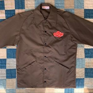 Vintage 1970's brown windbreaker jacket NOS